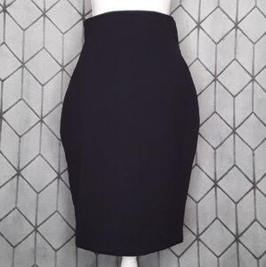 Larry Levine Dark Navy Pencil Skirt